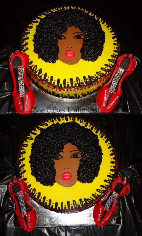 70s Themed Cake Afro Girl Zoe Cakes Unlimited Cakes