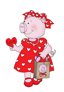 Free Dearie Dolls Digi Stamps Valentine Piggy Pig Illustration Pig Art Cute Pigs
