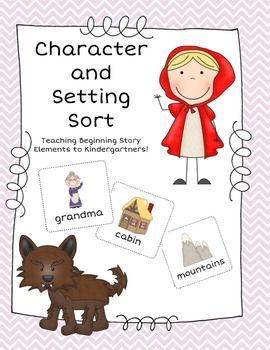 Kinder Character and Setting Sort | My TpT Page