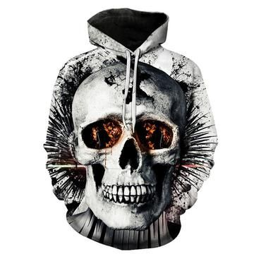 9ed573e4f07c Broken White Skull Monster Black Hoodies Sweatshirt Funny 3D Print Long  Sleeve Pullovers Tracksuit Leisure Fashion Hooded Shirts with Pocket Spring  Autumn ...