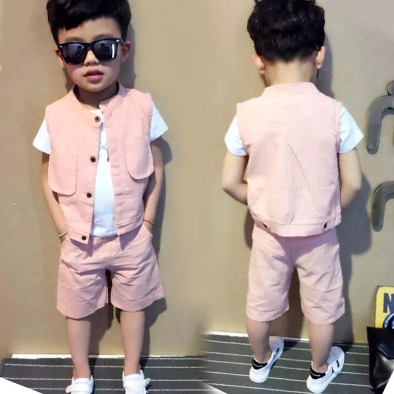 bc3e58e6cb1a Kids Boys Outfits Summer Clothing Sets New Gentleman Children ...
