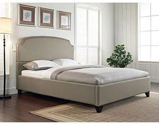 California King Size Bed Frame Platform Upholstered Headboard