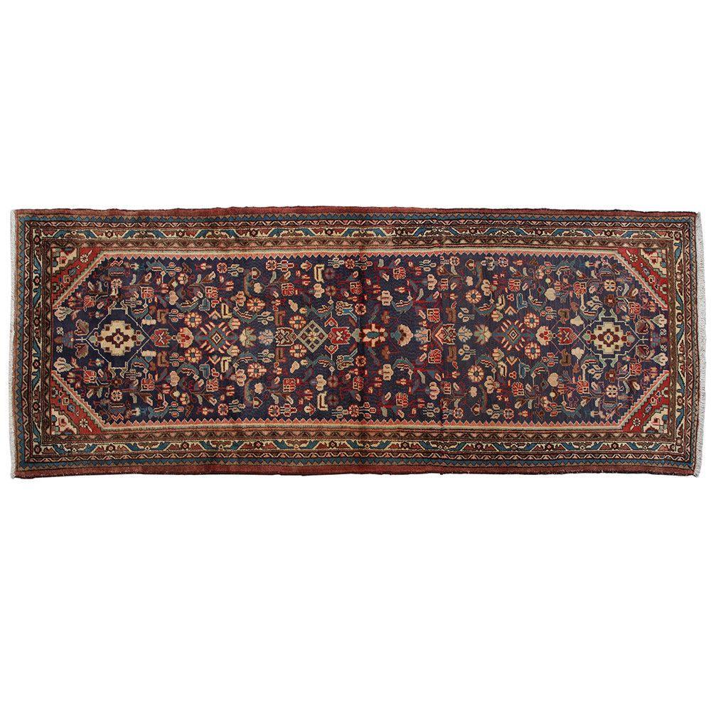 "8'11"" x 3'5"".Vintage Persian rug, Antique Persian rug for living room, Floral design, Hand knotted, Runner rug, area rug, Vintage wool rug, Code : S0101321"