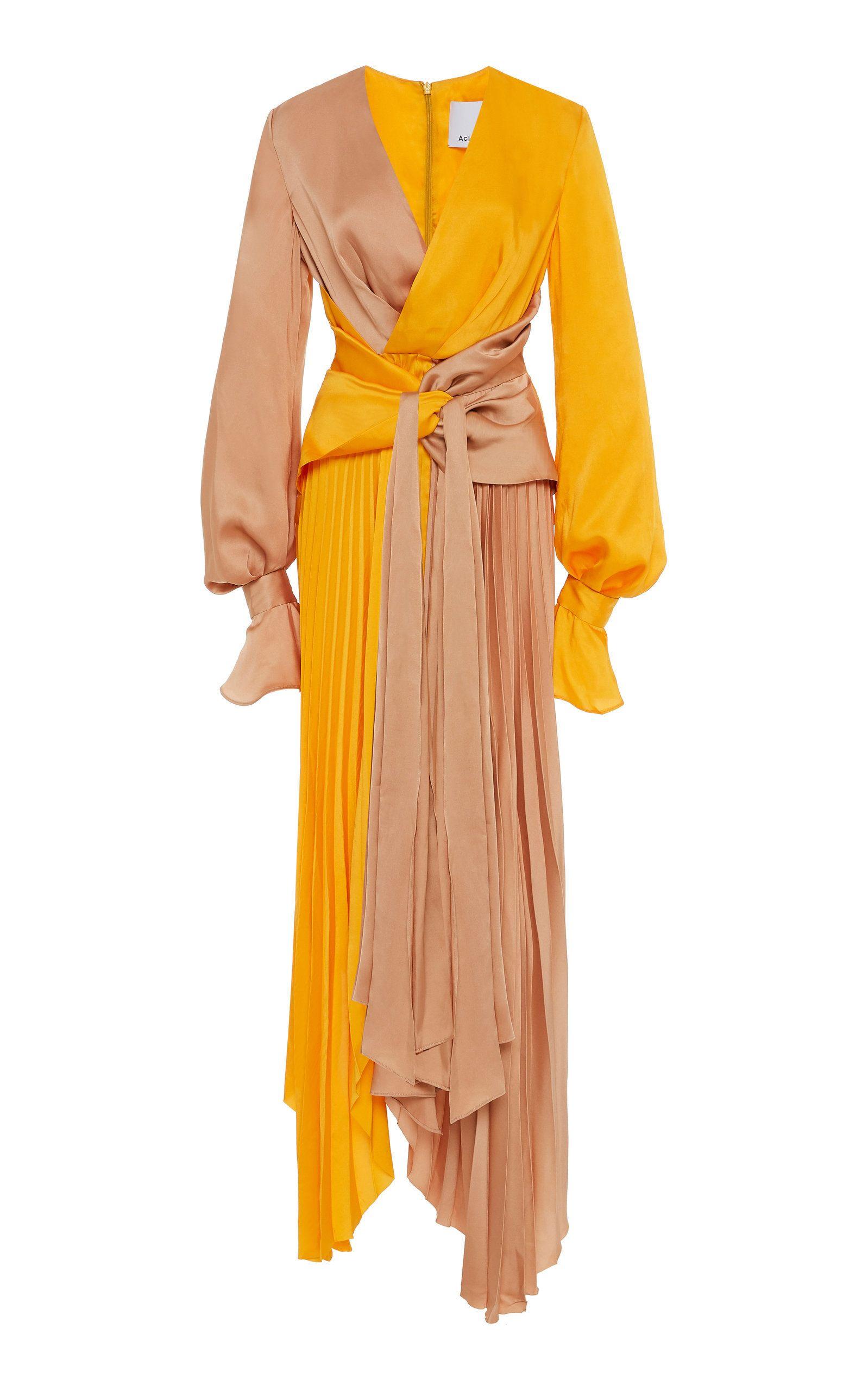 Acler Empire Two Tone Beige Orange Dress 460 Fashion Fashion Outfits Fashion Dresses [ 2560 x 1598 Pixel ]
