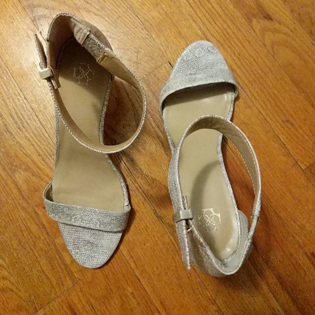 Snakeskin heels from Ann Taylor