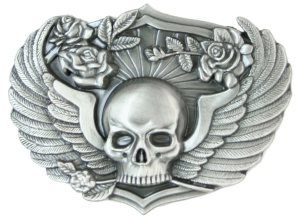 Skull Wings With Roses Belt Buckle 12 17 Http Skullcart