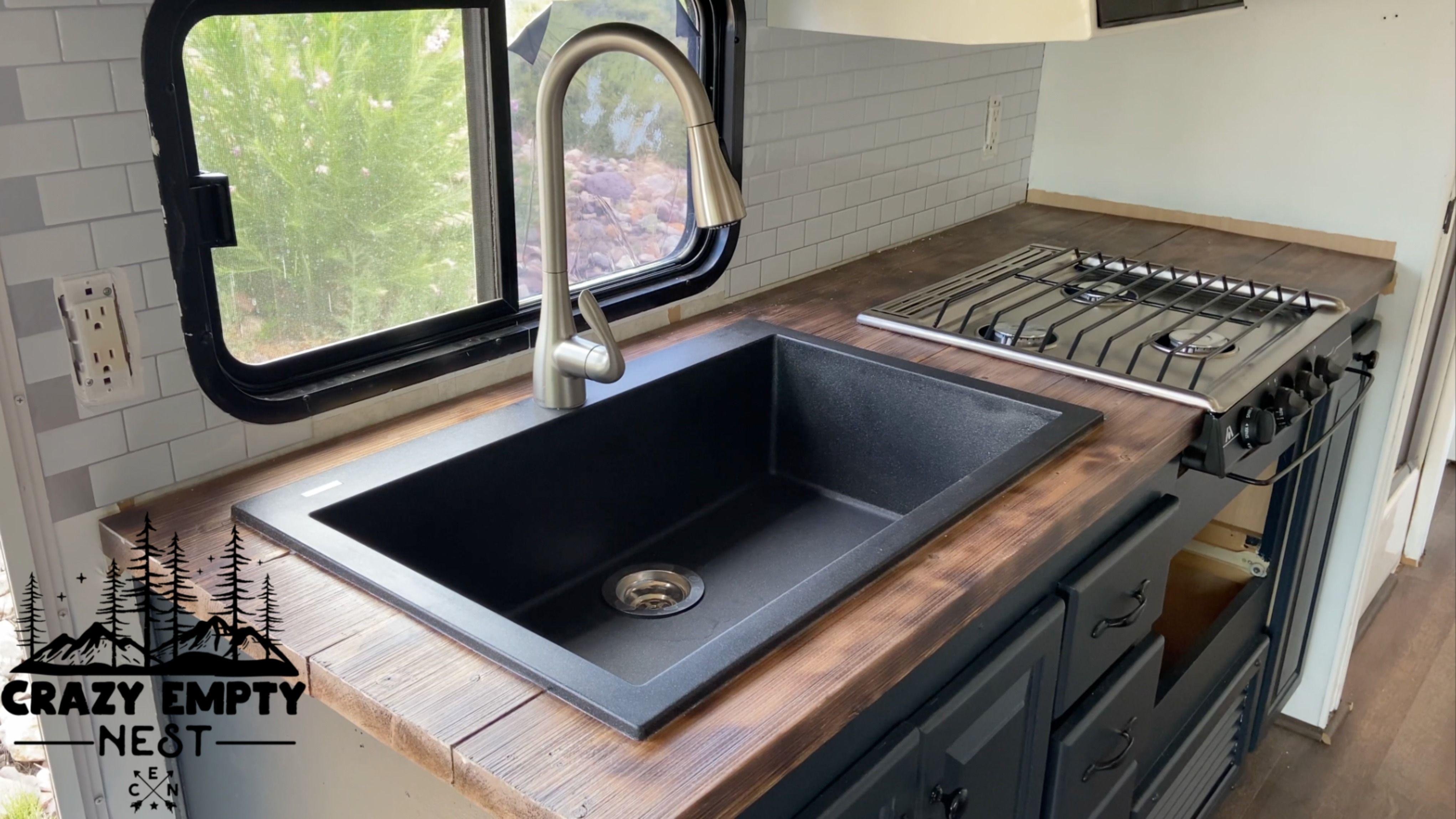 Vintage Rv Reno Sink Kitchen Sink Remodel Diy Camper Remodel Rv Sink