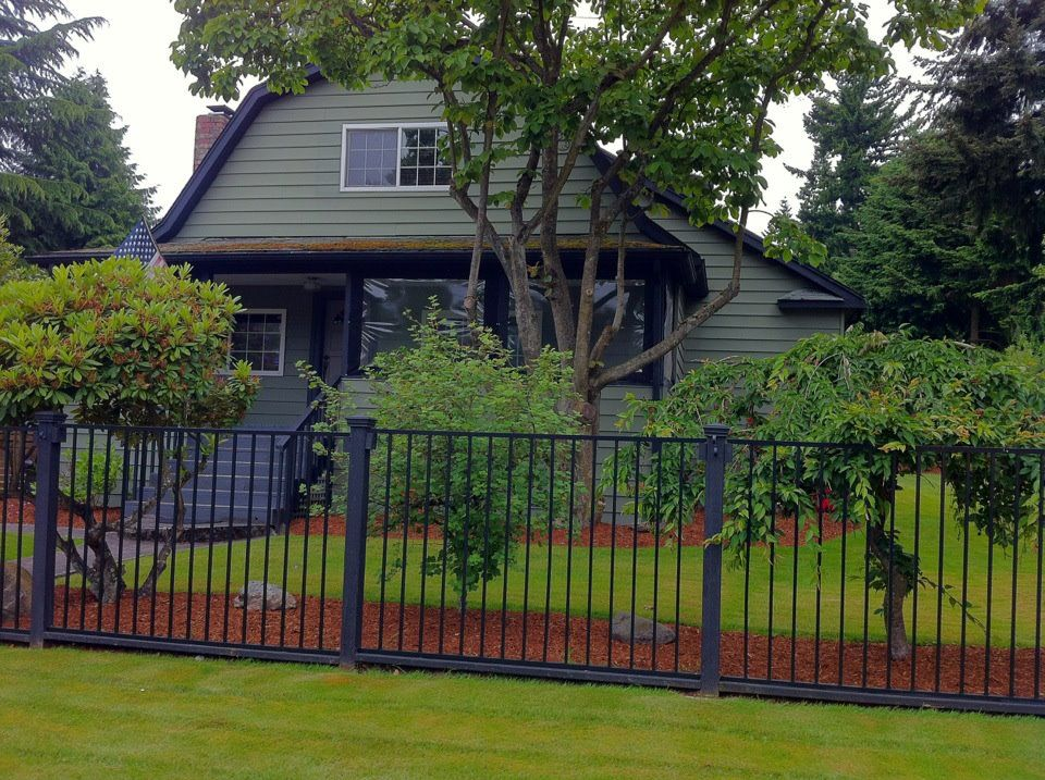 Beautiful Combo Dark Green House With Black Trim
