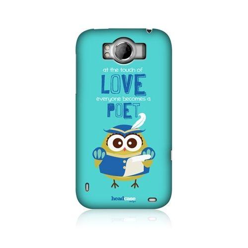 HEAD CASE POET LITTLE OWL KAWAII DESIGN BACK CASE COVER FOR HTC SENSATION XL