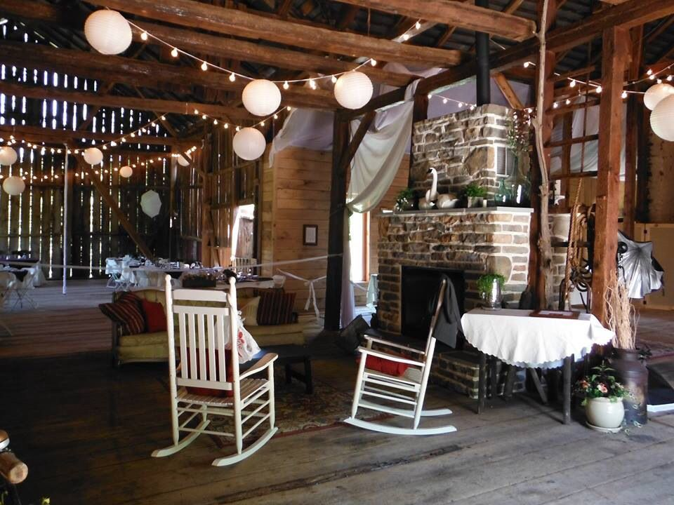 Inside of the barn at The stone barn winery and vineyard