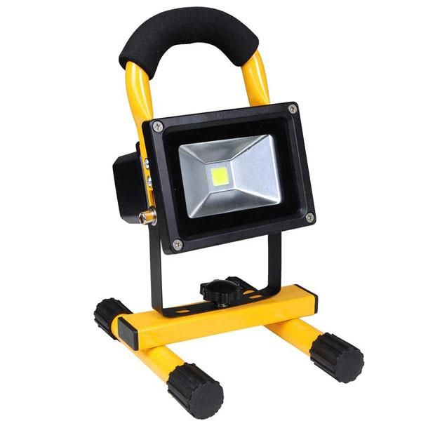 Thediyoutlet 10w Portable Rechargeable Led Flood Light Yellow Flood Lights Led Flood Security Lights