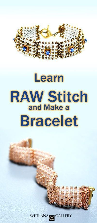 Learn Right Angle Weave stitch and make a bracelet Learn Right Angle Weave Stitch and Make a Bracelet  SvetlanaGallery Blog