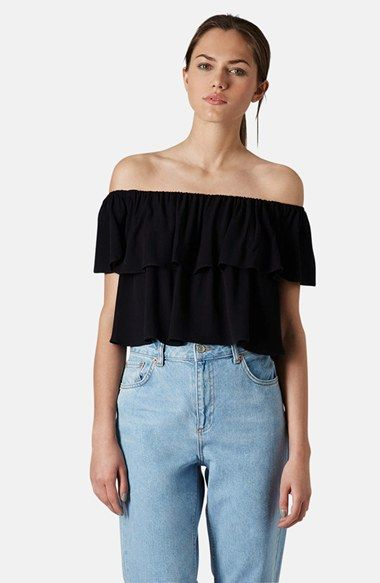 5c5f7f9521d19 Topshop Ruffle Off-Shoulder Crop Top available at  Nordstrom