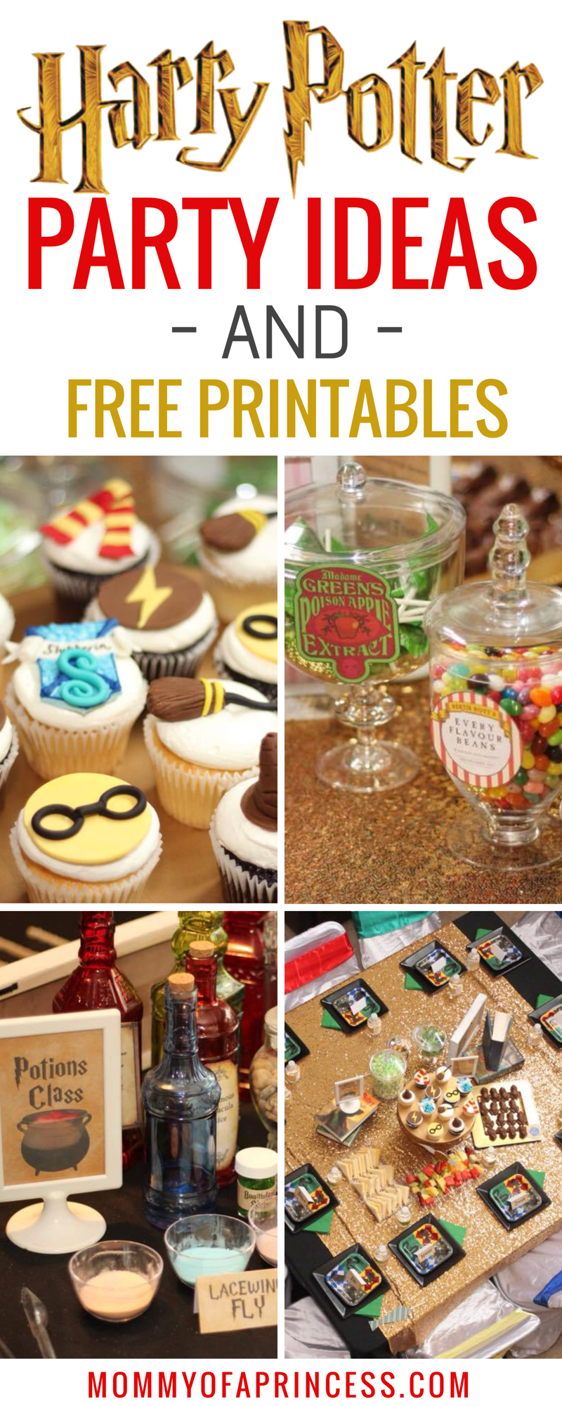Girly Harry Potter Birthday Party Ideas + Free Party