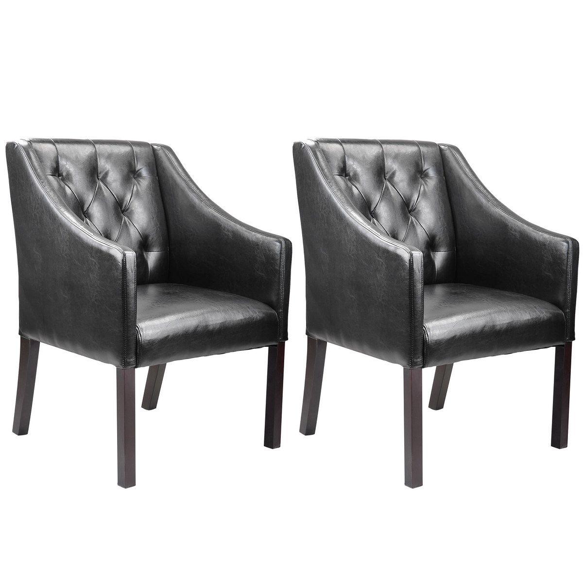 Corliving lad608c antonio accent club chair in black