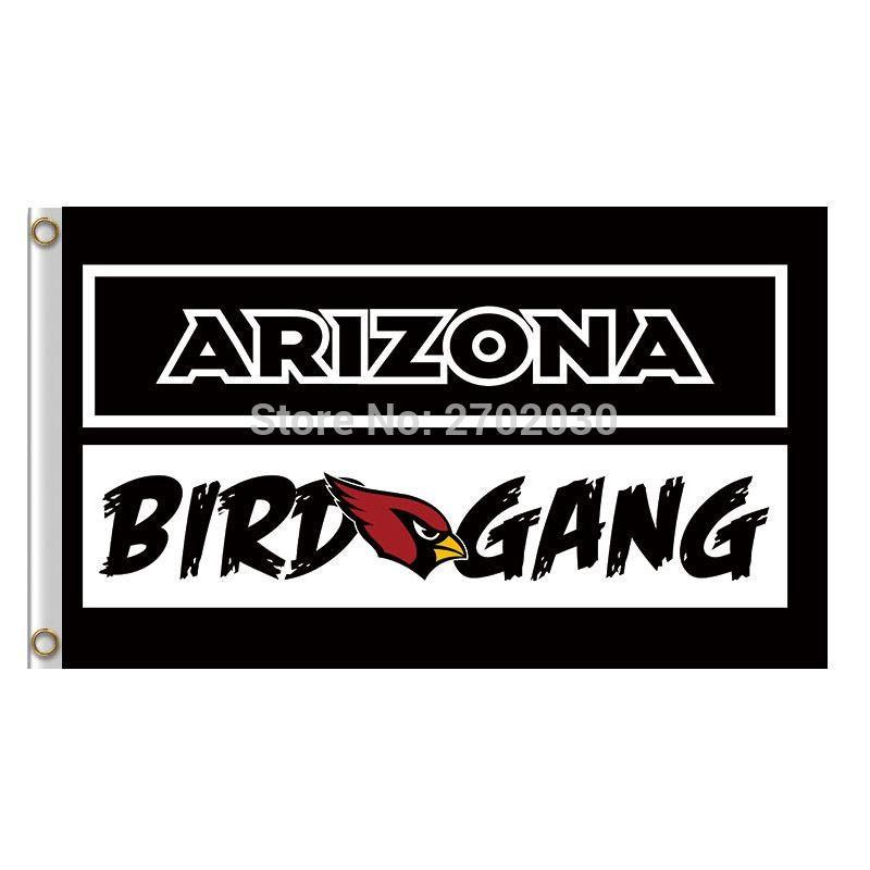 78c6896b27b5 Arizona Cardinals BIRD GANG Banner Flag Super Champions Fan World Series  Football Team 3ft X 5ft