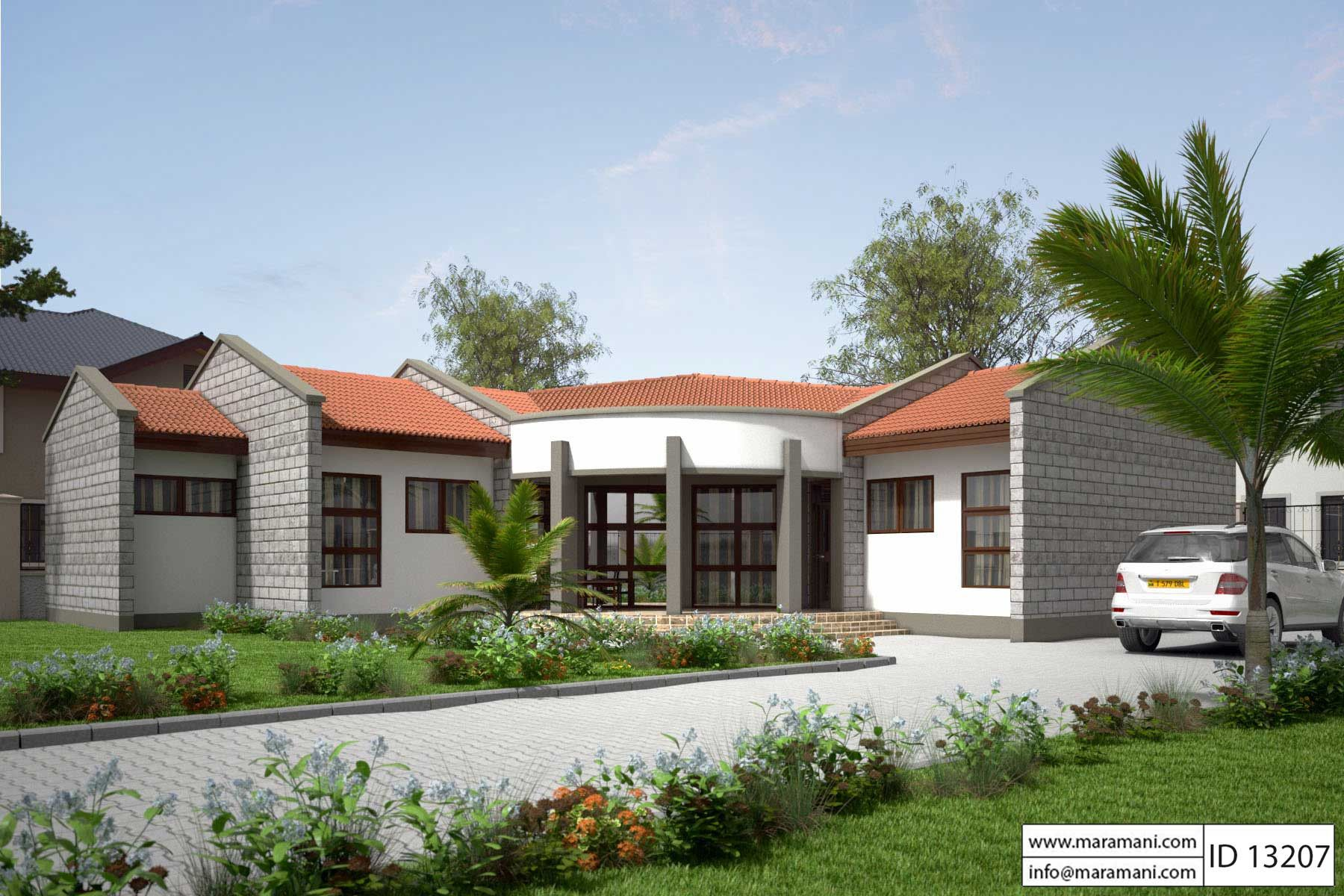 House plan id 13207 1 bldg pinterest for Modern rondavel house plans