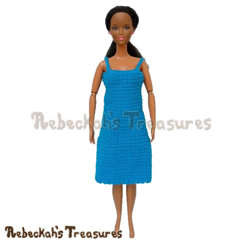Simply BLUEtiful Woman Fashion Doll Dress / Free Crochet Pattern by ...
