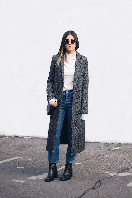 Le Fashion Blog Two Ways Maxi Coat Herringbone Mock Neck