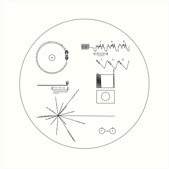 The Voyager Golden Record Art Print By Leakeg In 2021 Voyager Golden Record Voyager Tattoo Voyager Spacecraft