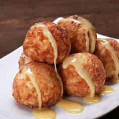 Fried Sticky Rice Mango Balls Recipe by Tasty