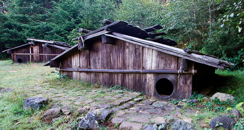Pleasant Yurok Plank House Cabin House Styles Native American Best Image Libraries Counlowcountryjoecom
