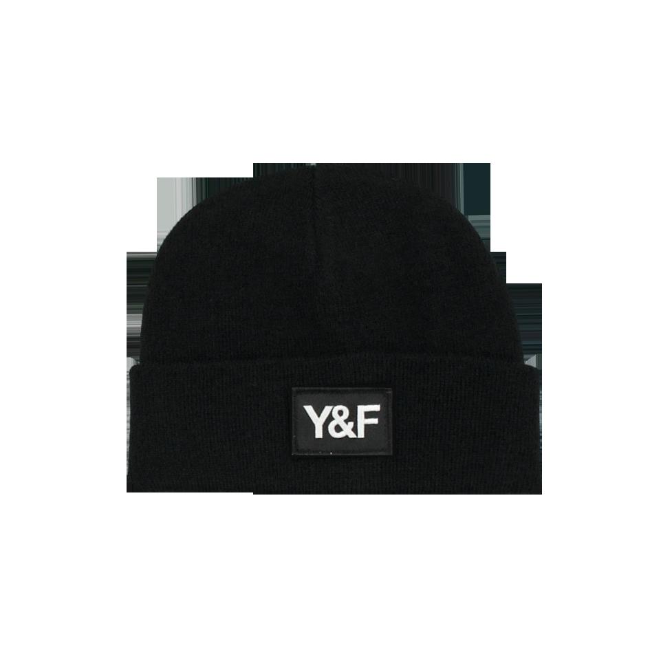 Y&F Black Rib Beanie - Hillsong Store Australia