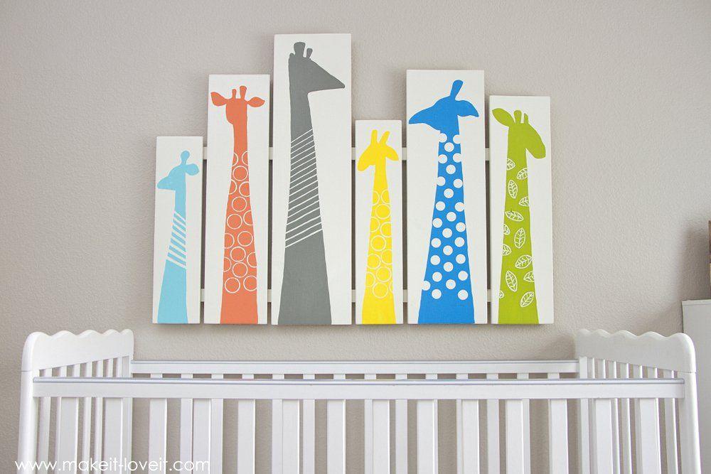 Diy Giraffe Nursery Art Or Any Other Room Make It And Love