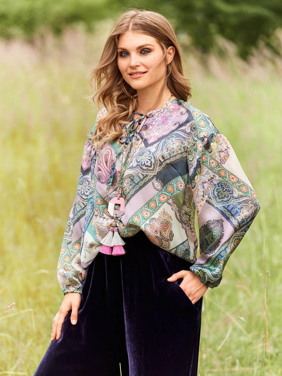 1ed3f5c9416 Блузка с пышными рукавами - выкройка № 102 из журнала 11 2018 Burda –  выкройки блузок на Burdastyle.ru