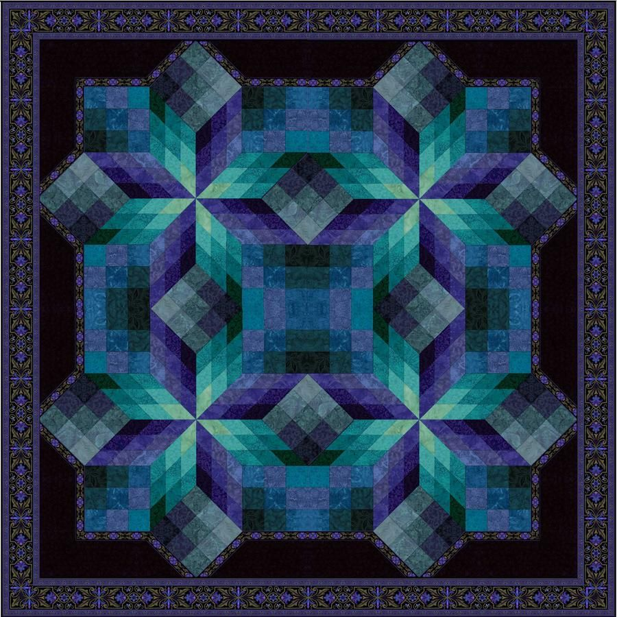 Stained Glass Star 2015 Large Quilts Star Quilt Kit