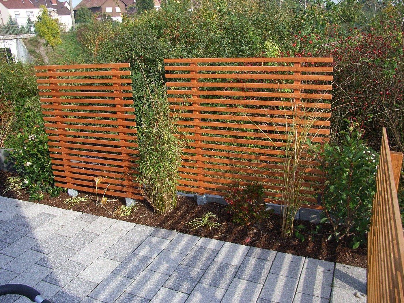 Gartenzaun Holz Sichtschutz Zaun Sichtschutz Selber Bauen