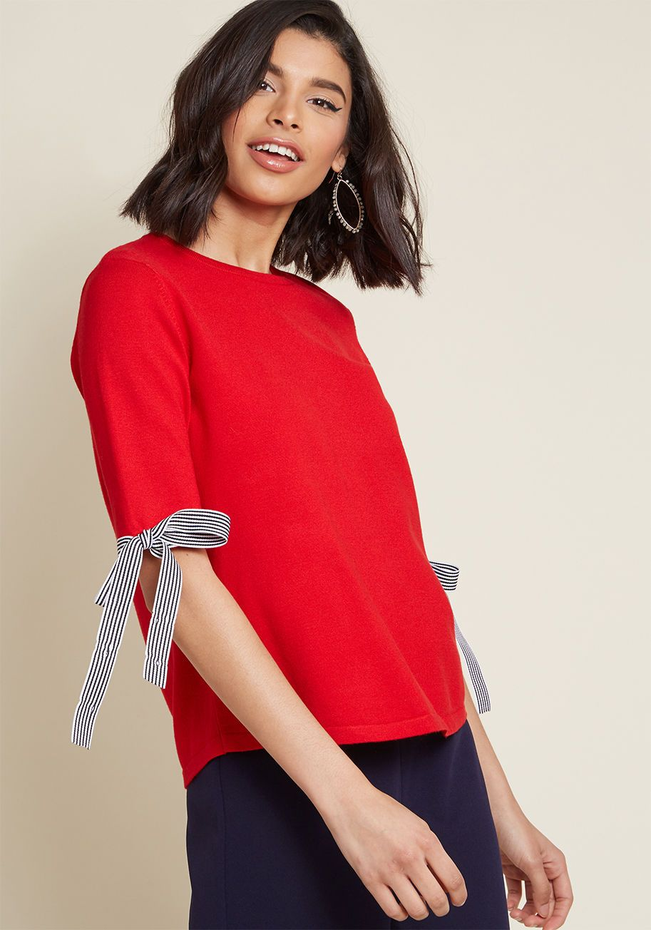 683d2248994c3a You can count on this red knit top to amplify the classic vibe of your  aesthetic