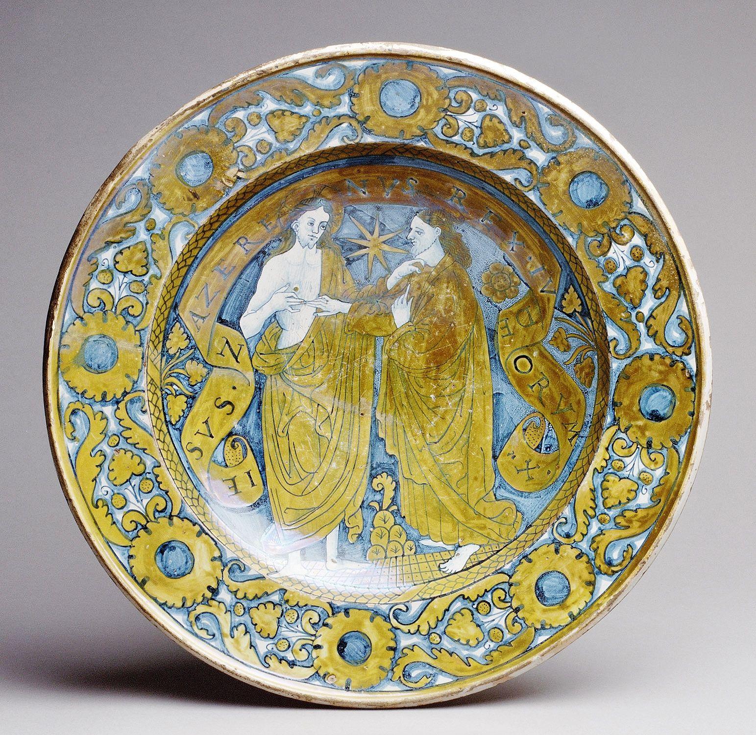 Dish ca. 1520 Italian, Deruta Maiolica (tin-glazed earthenware ...