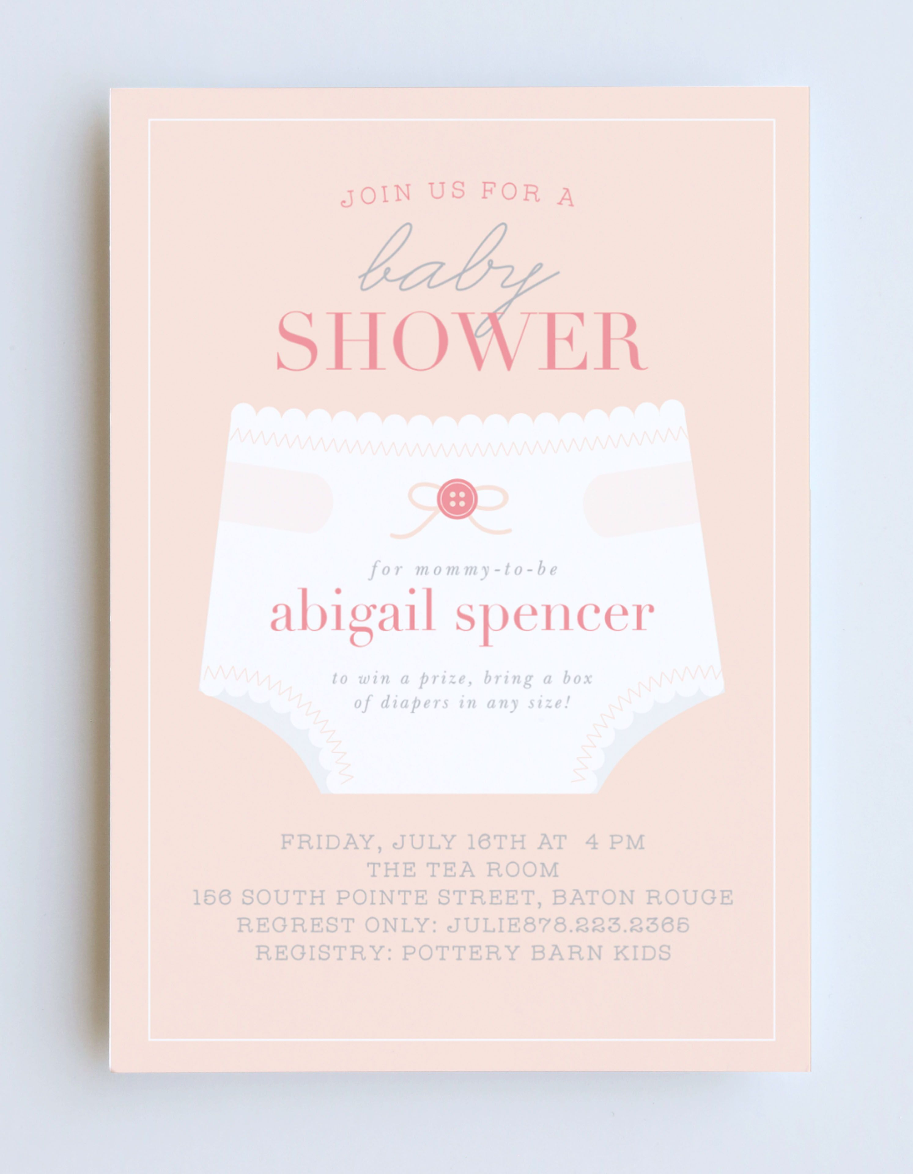 Girl S Diaper Shower Baby Shower Invitations Baby Shower Invites