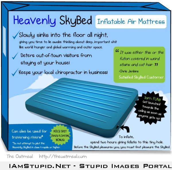 b31c9b2e05e3eac7ef806fdedf2b8fd5 inflatable air mattress (honest ad) funny and stupid memes