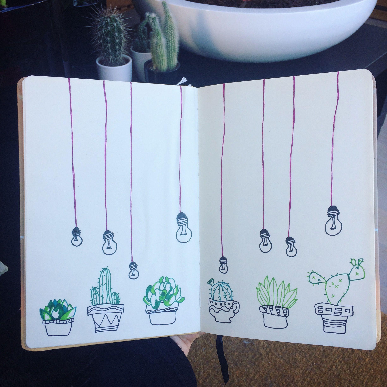 Cactus drawing #cactus #drasing #sharpie #sketchbook #sketch #lamp #droodeling @jolienpeeters1
