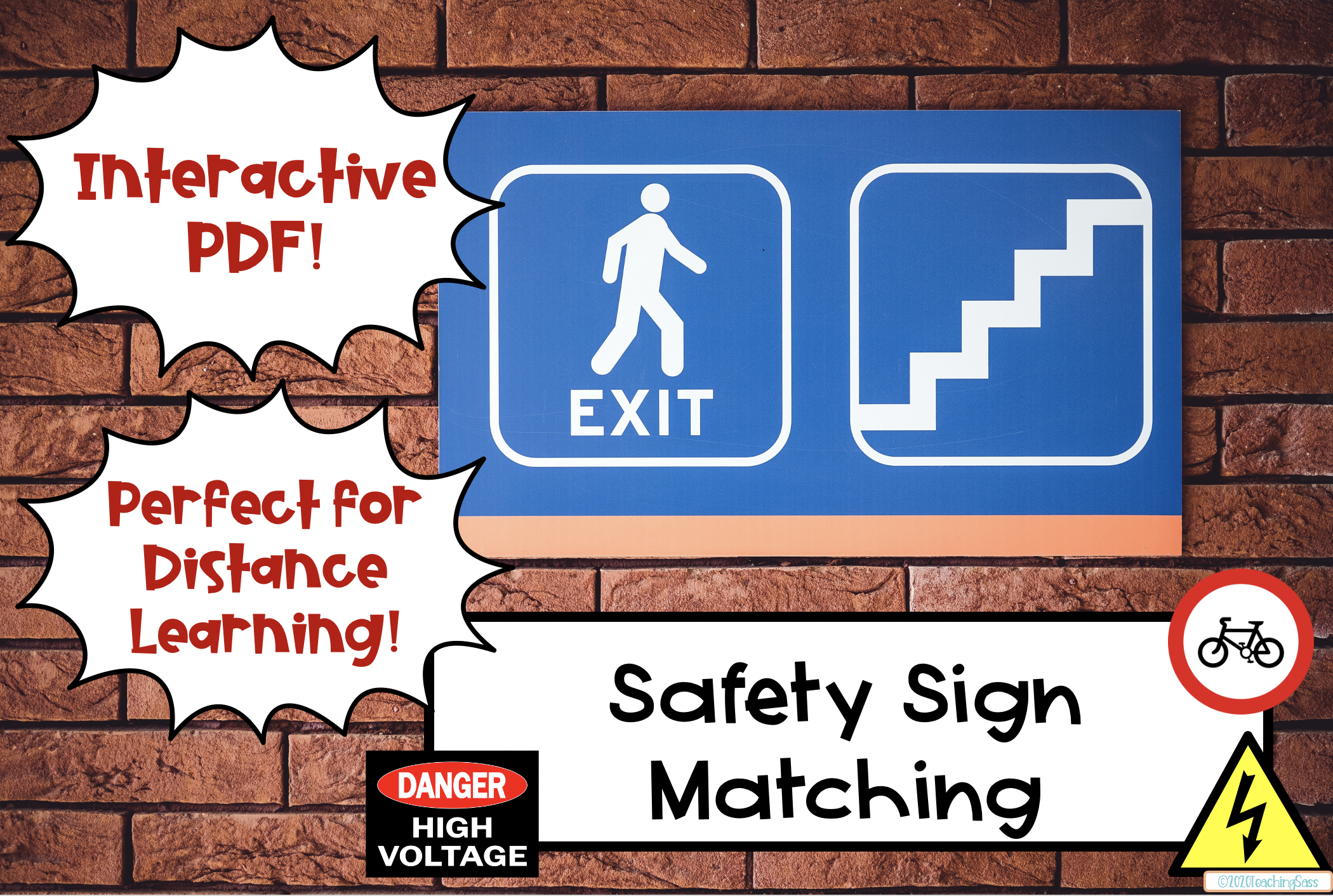 Digital Learning Safety Sign Activity In
