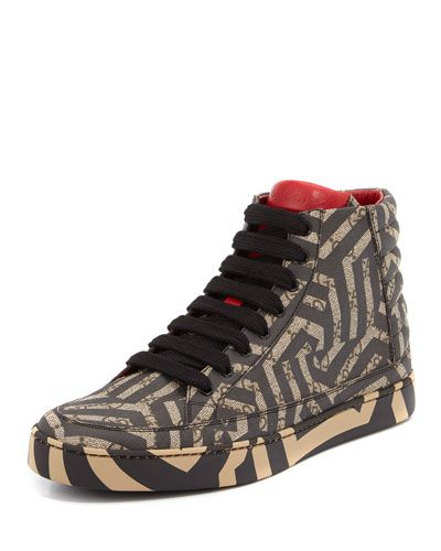 7884c3b8965 GUCCI GG CALEIDO CANVAS HIGH-TOP SNEAKER