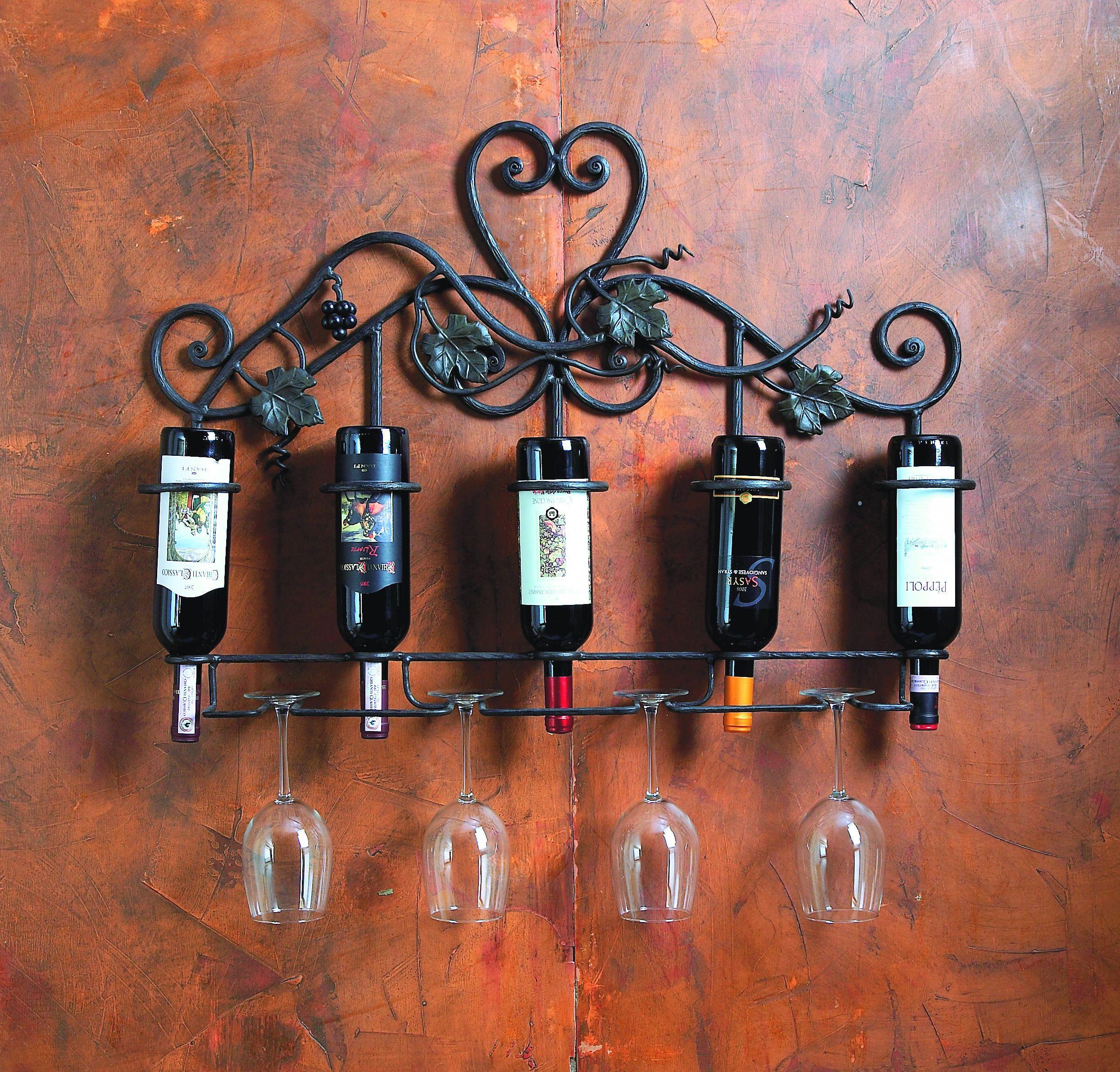 823 Vineyard 5 Bottle Wall Wine Holder