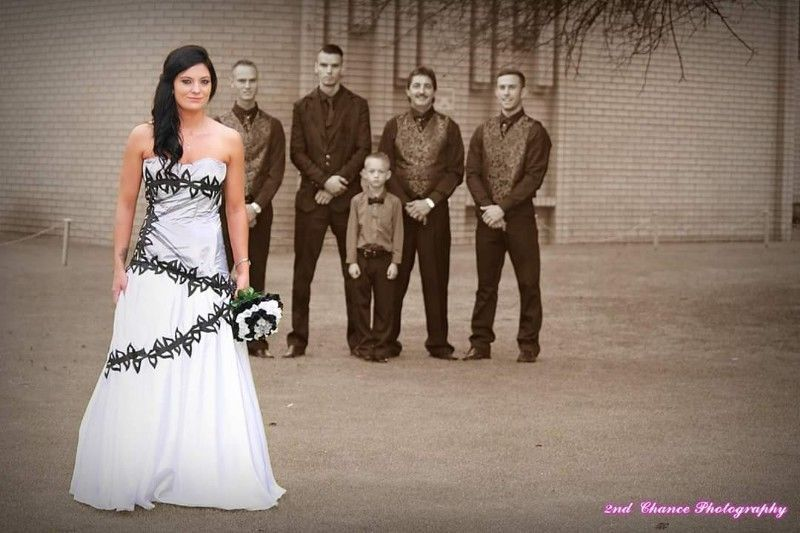 Anja in the gown I made for her wedding day. Dressmaker for evening and bridal wear