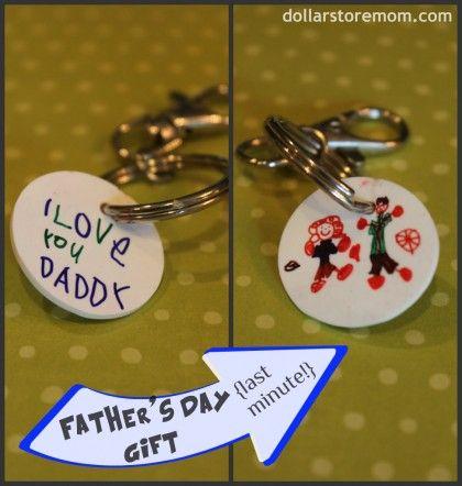 Father's Day Shrinky Keychain