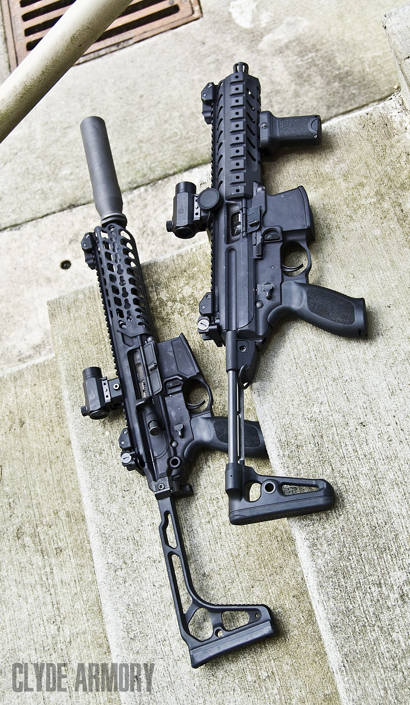 sig sauer s new mcx sbr with one of their suppressors and a select