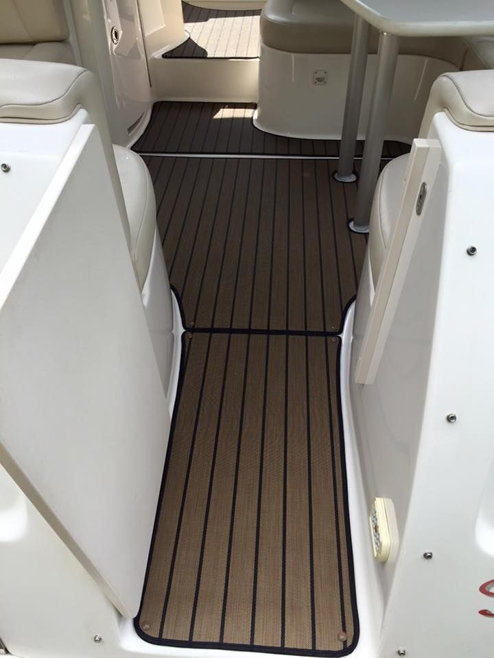 Snap In Carpet Installed On Customer S Boat Boat Accessories Deck Boat Boat Carpet