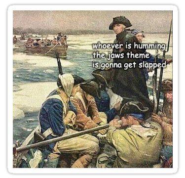 Photo of 'History Jaws Meme Funny' Sticker by Mostlyordinary