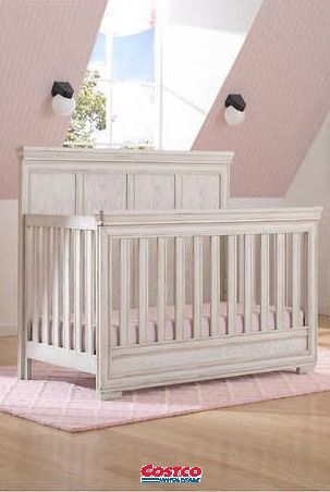 Bring Timeless Style To Your Baby S Nursery With The Ashton 3 Piece Convertible Crib Set From Simmons Kids Nursery Furniture Sets Cribs Convertible Crib Sets