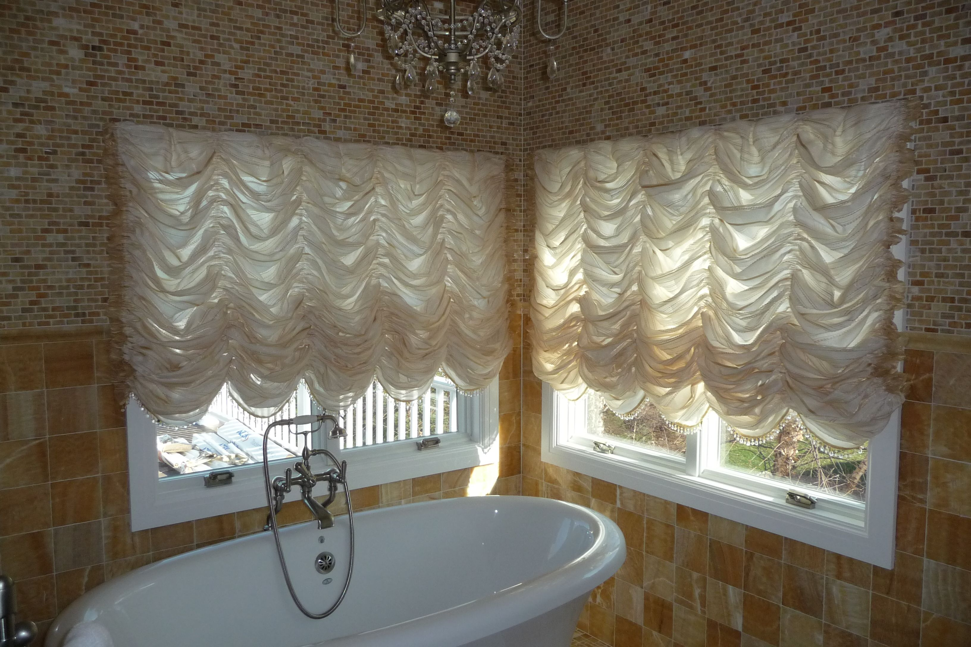 Austrian Curtains Gorgeous Austrian Shades Embellished With Beaded Trim Custom