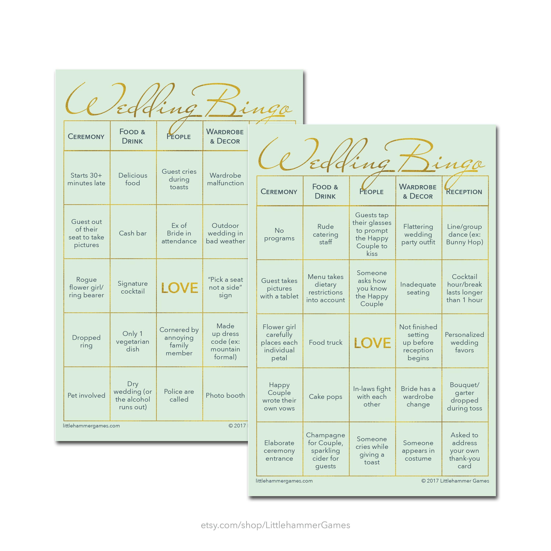 Printable Wedding Reception Game Wedding Bingo 2 Brides Edition Is Now Available As A Printable It Can Wedding Reception Games Wedding Bingo Reception Games