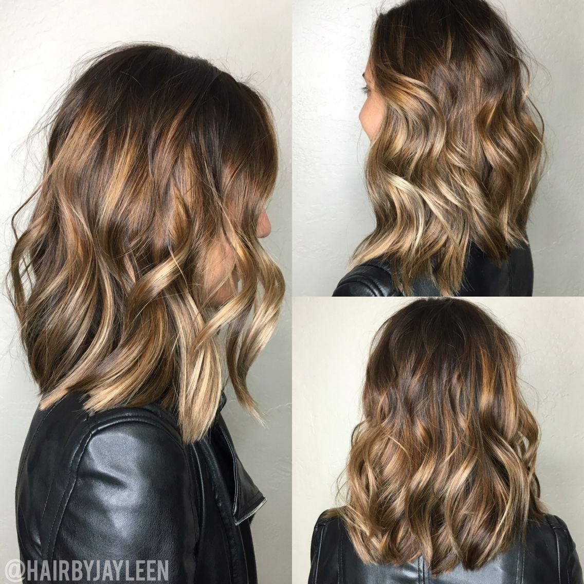 Lob Hairstyle Short Hair Color Blonde Balayage Bronde Hair