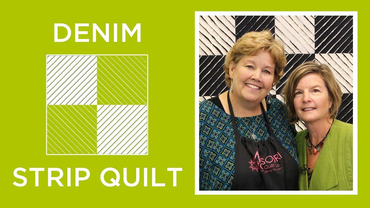 Make a Denim Strip Quilt with Jenny