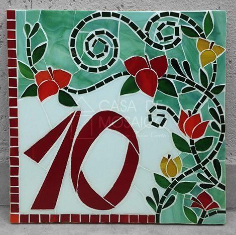 Mosaico numero casa pinterest mosaicos n meros y for Azulejo numero casa
